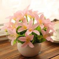 New Style Plastic Vase Flowers Set Spring Daisy Sunflower Artificial Flower Set Home Decoration Birthday Gift