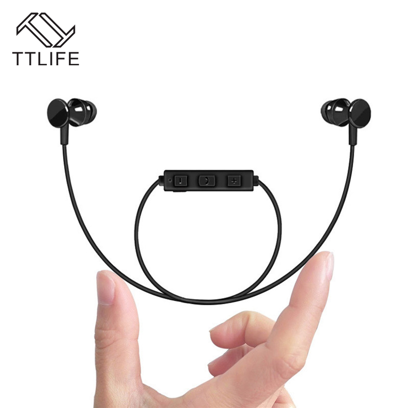 TTLIFE Hand-free Wireless Earphones Sport Bluetooth Earpieces Supports Music Headset With Mic for iPhone 7 xiaomi Mobile Phones 2017 ttlife mini wireless earphone bluetooth headsets airpods with mic 2 in 1 with car charger for iphone 7 xiaomi mobile phones