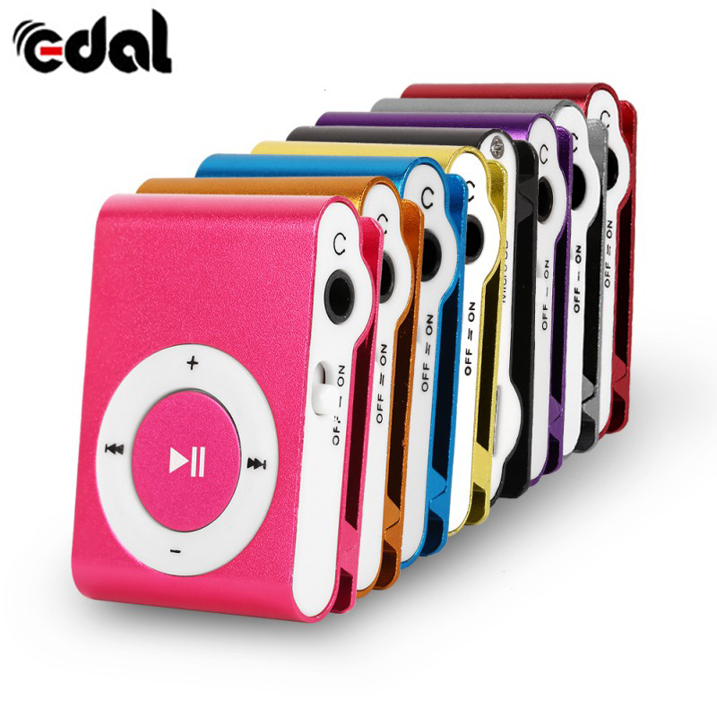 EDAL Clip Stylish Mini Mp3 USB Support 32GB Micro SD TF New Design Sport Gym