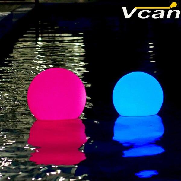 20 см приятно супер яркий Светящиеся Сад Мяч плавающий бассейн Водонепроницаемый RGB лампа декоративная Наружное освещение