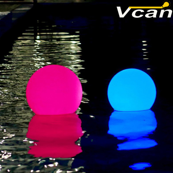 20cm Nice Super Bright Glowing Garden Ball floating swimming pool waterproof rgb Lamp Decorative Outdoor Lighting environmentally friendly pvc inflatable shell water floating row of a variety of swimming pearl shell swimming ring