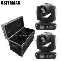 1 flycase + 2 pieces 5r moving head beam with flightcase disco light beam 200w sharpy stage lighting effect with powercon