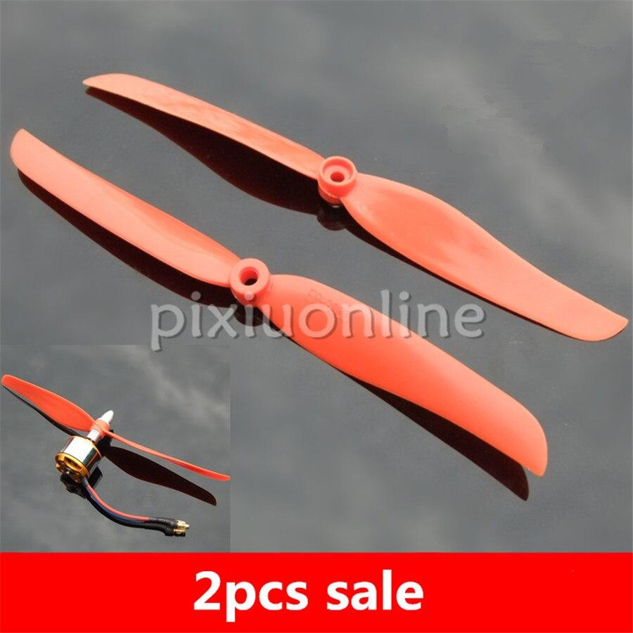 2pcs/pack K968b EP8060 Red Color 203mm 1400KV Motor Used Propeller DIY Model Making Free Shipping Russia