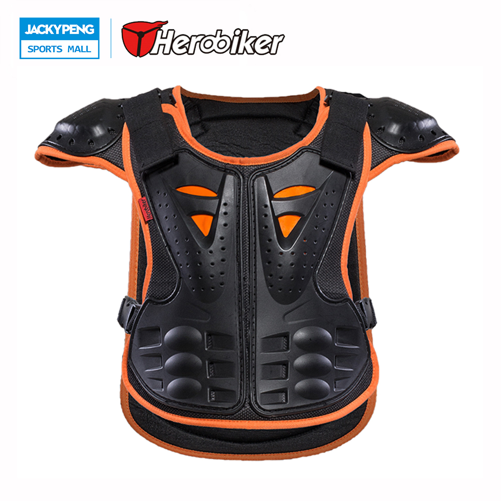 HEROBIKER Outdoor Sports Children Armor Vest Suitable For 4-12 Ages Kids Skateboard Skiing Riding Chest Protector Guards eva horse riding waistcoat safe equestrian eventer body protection vest for women men kids riding armor protector vest 3 colors