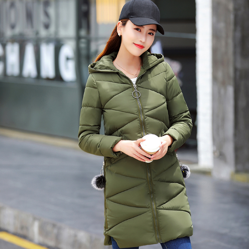 2017 New Fashion Long Winter Jacket Women Slim Female Coat Thick Parka Cotton Clothing Hooded Jackets Casual Outwear akslxdmmd fashion casual winter thick hooded jacket 2017 new parka women parttern letters mid long coat female overcoat lh1227
