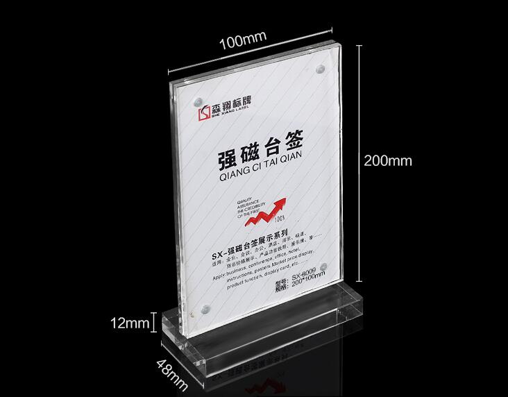 10 Piece 100x200mm Photo Frame Acrylic Magnetic Table Display Stand Sign Menu Display Holder Acrylic Frame Photo Stand Rack