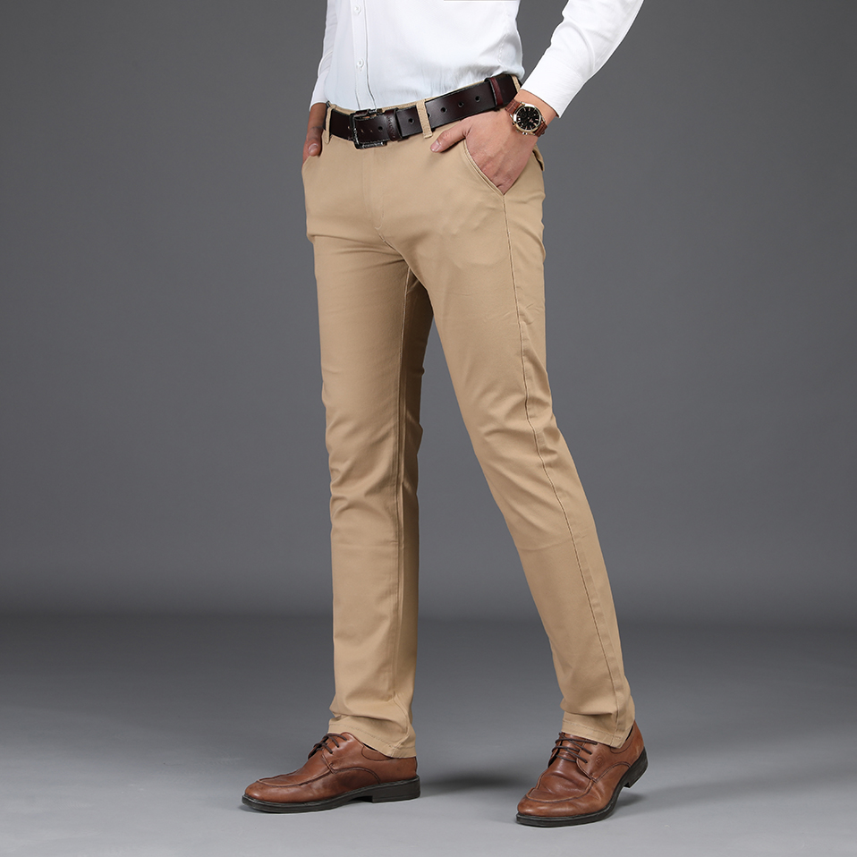 NIGRITY 2019 Men Pants Casual High Quality Classics Fashion Male Trousers Business Formal Full Length Mens Pants