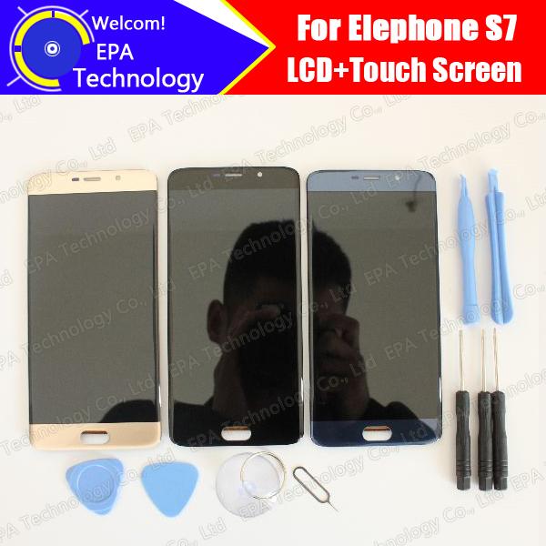 Prix pour Elephone S7 Écran lcd + Écran Tactile 100% Original Nouveau Testé Digitizer Panneau de Verre de Remplacement Pour S7 + Outils