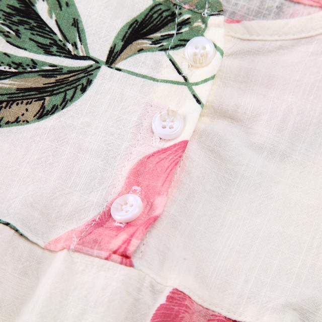 Girls' Floral Cotton Blouse