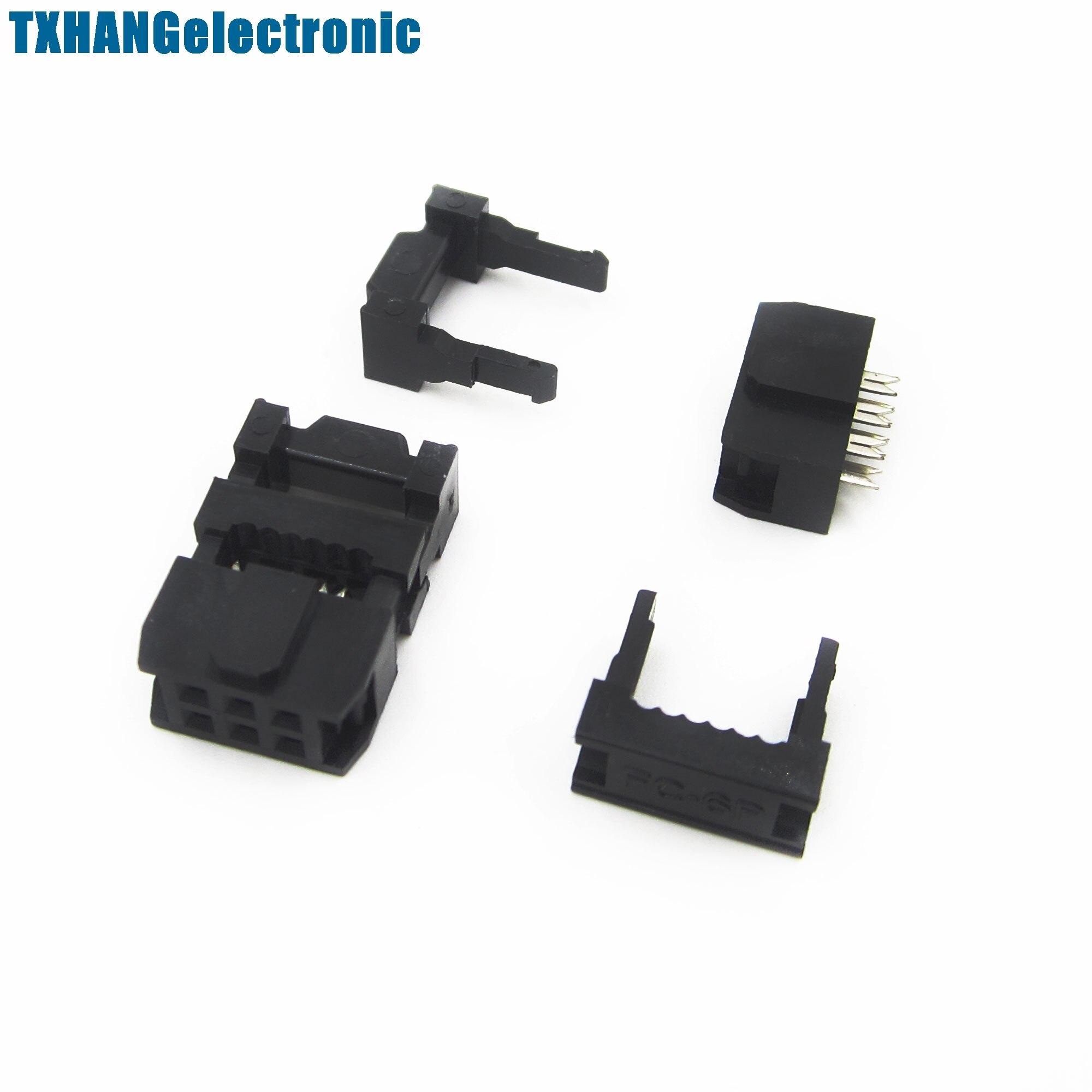 10PCS 2.54mm Pitch 6Pin FC-6P IDC FC Female Header Connector 3pcs//set