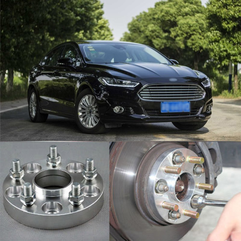 Teeze 4pcs New Billet 5 Lug 12*1.5 Studs Wheel Spacers Adapters For Ford Mendeo 2004-2018 2 pieces of specialized in the production of wheel adapters spacers 4 x100 for ford fiesta mazda 2 suzuki swift