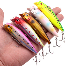 1Pcs Popper Fishing Lures 9.2cm/11.5g Top Water High Quality Wobblers Hard Fake Baits Crankbaits Isca Artificial Fishing Tackle