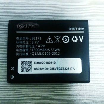Original BL171 3.7V 1500mAh Battery For Lenovo A368 A60 A500 A65 A390 A390T A370e A356 CellPhone New With Tracking Number image