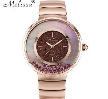 Happy Crystals Women Steel Dress Wrist watch Popular Neutral Designer Big Size Bracelet Watches Quartz Reloj Montre Femme FS8234