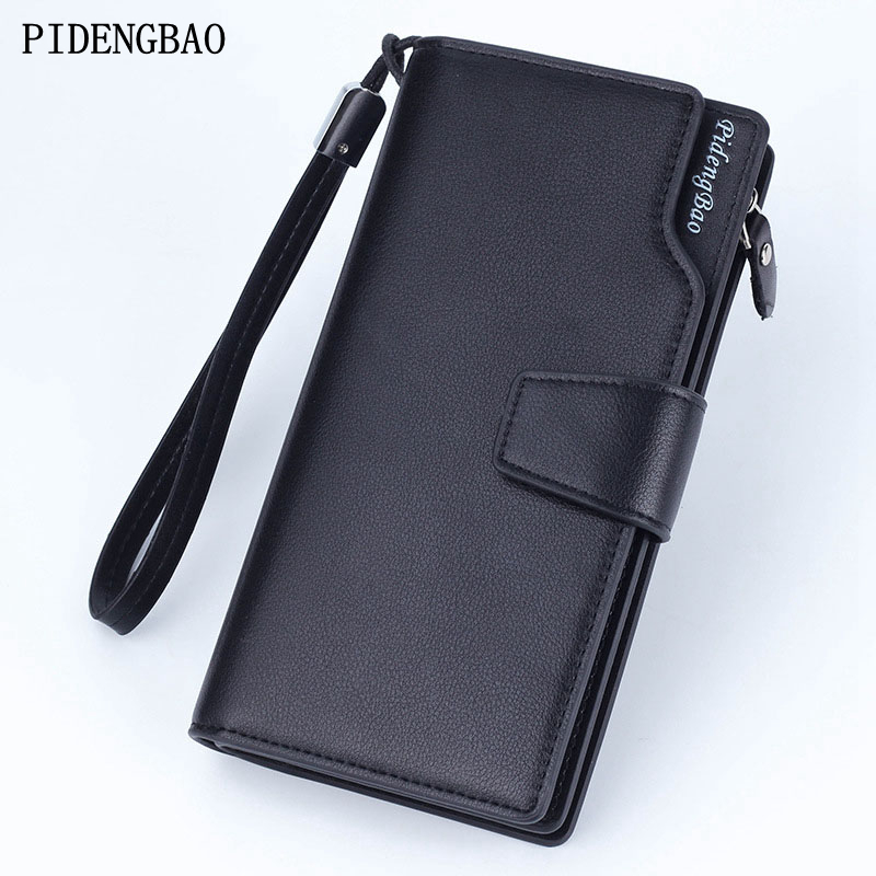 PIDENGBAO 2017 Classic Business Stripes Men's Wallet Soft Short Men Wallets With Coin Pocket Brand Male Purse With Card Holder 2017 men business short leather wallet male brand wallets purses with card holder for men