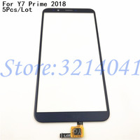 5Pcs/Lot 100% Tested For Huawei Y7 Prime 2018 / Y7 Pro 2018 Front Glass Lens Sensor Panel Touch Screen Digitizer Replacement