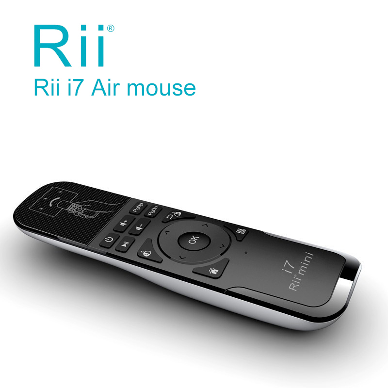 Rii i7 Mini Fly Air Mouse Wireless Remote Control Built-in 6 Axis Control for PC,Smart Tv,Android Box,Motion Sensing Gamer