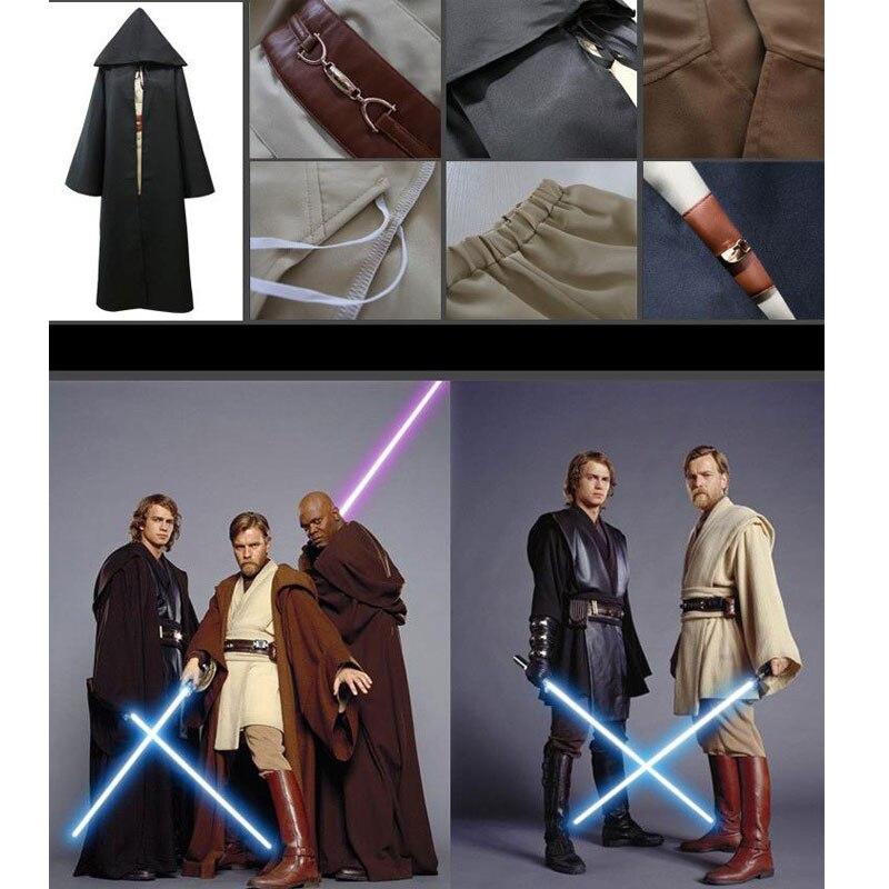2018 Anime Star Wars Jedi Maître Obi Wan/Ben Kenobi Jedi/Sith Anakin Skywalker Cosplay Costume Manteau Tunique halloween Costumes de fête