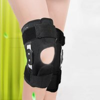 Adjustable Hinged Full Knee Support Brace Knee Protection Sport Injury Knee Pads Safety Guard Strap For