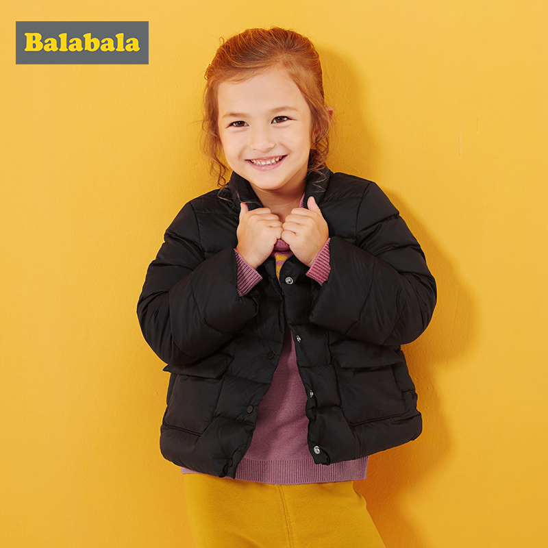 balabala kids girls clothes jacket for girls 90% down winter coat children's clothing thick winter down girls clothes costume girls clothing down
