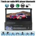 7 ''polegadas tela carro mp 5 player, USB SD câmera de visão traseira aux in sintonizador de rádio controle remoto 1 din áudio estéreo mp5