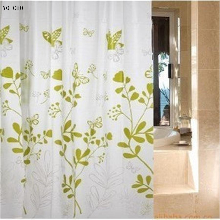 Green shower curtains -  180 180cm Modern Peva Cheap Waterproof Green Shower Curtains Bathroom Products Transparent Green