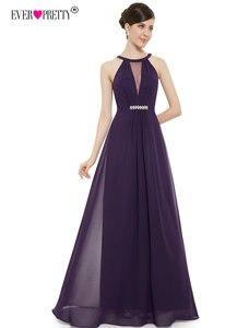 Image 3 - Hiç Pretty mor akşam elbiseler ucuz bir çizgi seksi boncuk See Through taklidi siyah örgün parti törenlerinde 2018 EP09995