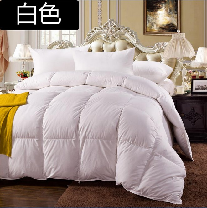 spring 90 white down comforter king queen twin size 100 cotton cover 600 fill power 17 oz fill. Black Bedroom Furniture Sets. Home Design Ideas