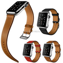 New Genuine Leather Watchbands Single Tour Bracelet Watch band For Apple 38/42mm