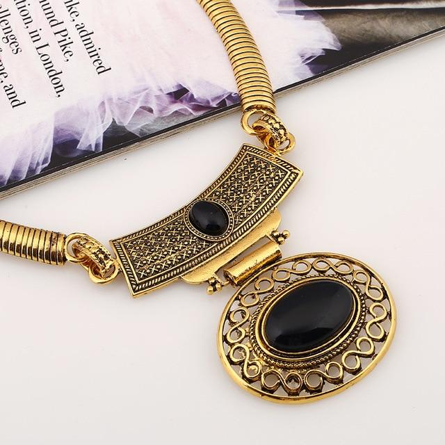 Gehania модные большие Подвески женское ожерелье в винтажном