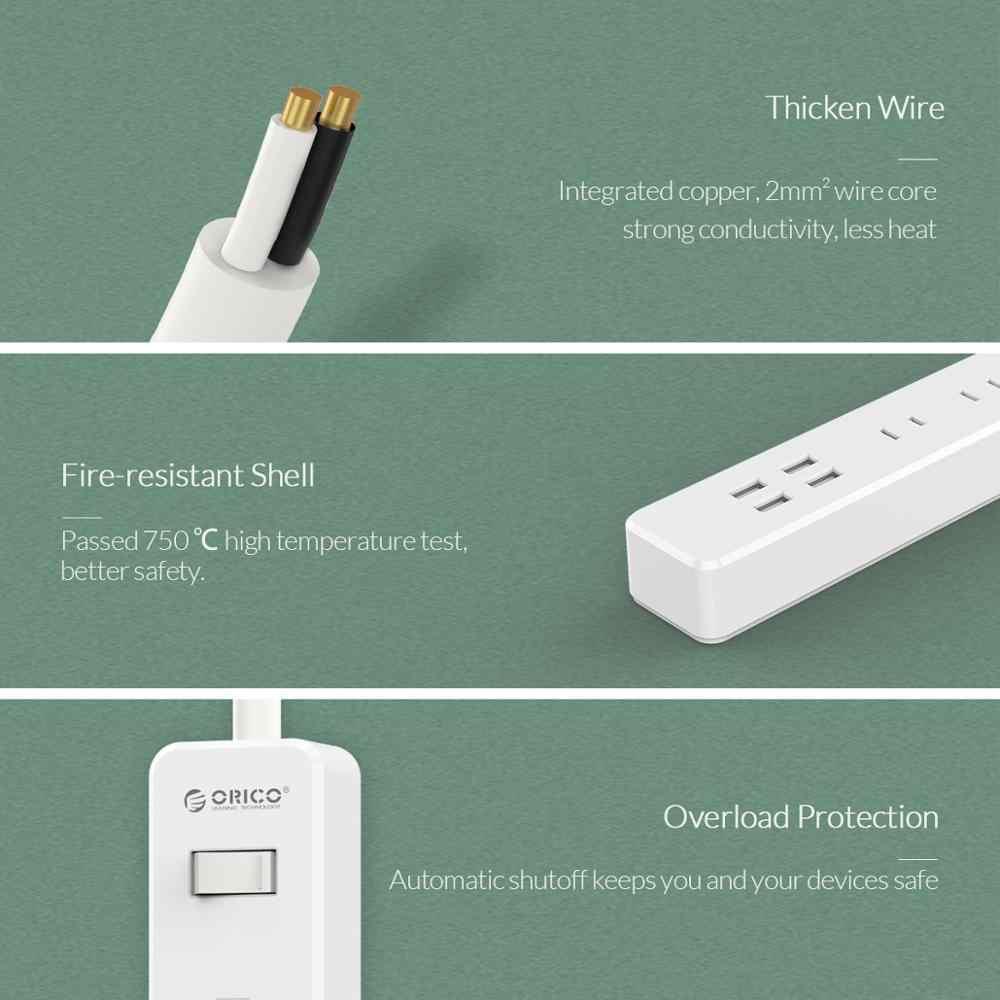 ORICO listwa zasilająca 3 AC 2 porty USB Stekker JP wtyczki rozszerzenie gniazdo złącza Multiprise USB