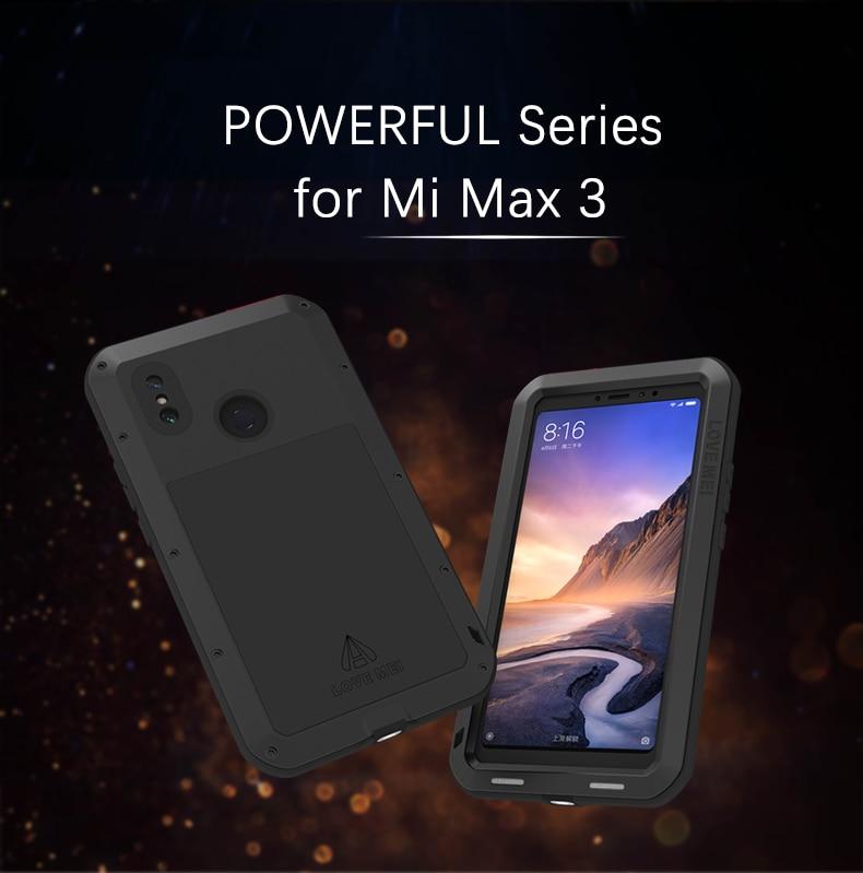 Love Mei étui puissant pour xiaomi mi max 3 pré mi um boîtier en aluminium antichoc étanche pour xiaomi max3