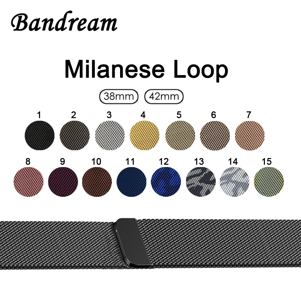 цены на Milanese Loop Watchband 1:1 for iWatch Apple Watch 38mm 42mm Series 1 2 3 Band Stainless Steel Strap Magnet Clasp Wrist Bracelet в интернет-магазинах