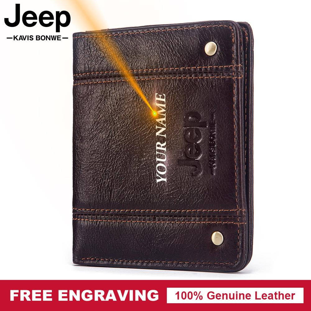 Free Engraving Gift 100% Cow Genuine Leather Wallet Men Coin Purse Small Mini Card Holder Male Vintage PORTFOLIO Portomonee Hasp