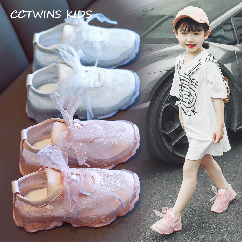 CCTWINS Kids Shoes 2019 Spring Fashion Girls Lace Real Leather Shoes Children White Sneakers for Baby Sports Trainers FS2849