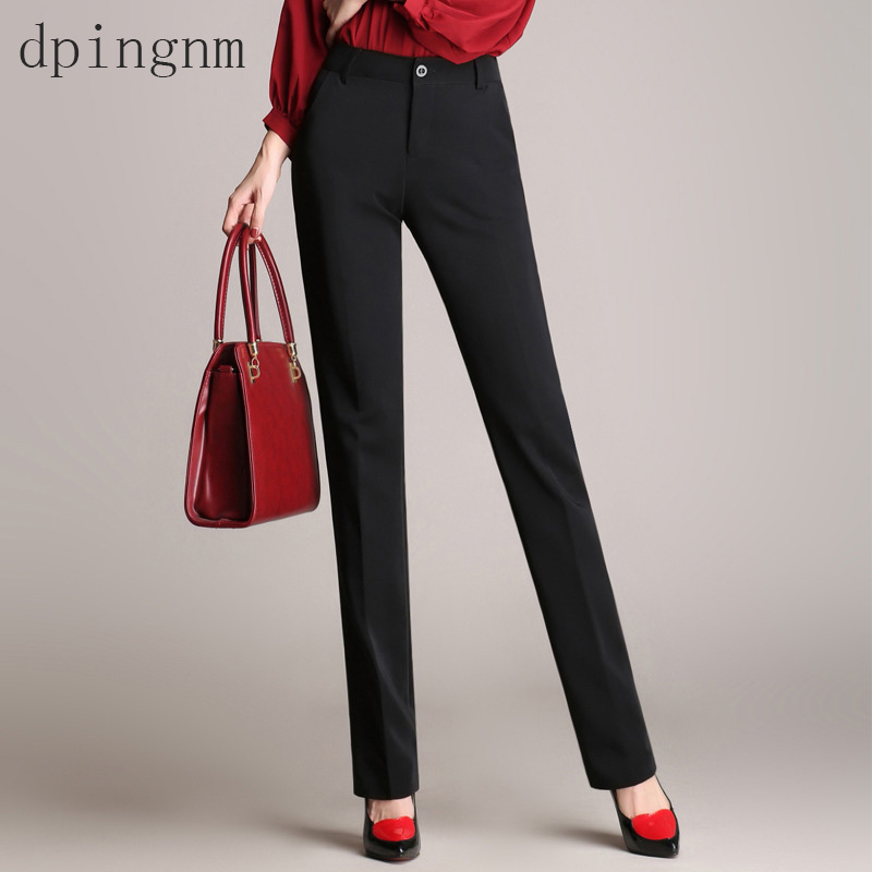 font b 2018 b font high quality western style trousers high waist straight bell bottom