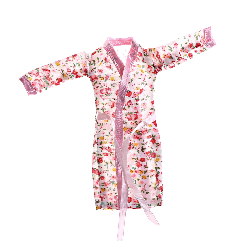 Doll Bedroom Pajamas Robe Nighty Bathrobe Clothes For  Doll  Dolls Robe Shorts For Ken   Doll Accessories Kids Best Toys Gift