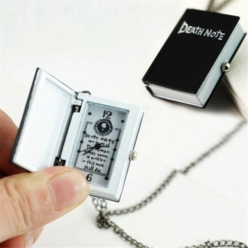 Relogio Quartz Watch Unique Death Note Bronze Necklace Chain Pocket Women's men's Watches Fob Watches Necklace Chain Gift стоимость