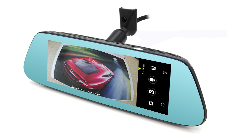 "Junsun 8"" 4G Special Mirror Car DVR Camera Android 5.1 with GPS DVRs Automobile Video Recorder Rearview Mirror Camera Dash Cam 14"