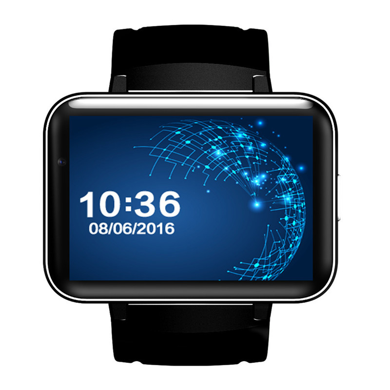 DM98 Bluetooth relogio inteligente Android 4.4 3G Smartwatch MTK6572 Dual Core 1.2GHz 4GB ROM Camera WCDMA GPS PK LEM4 watch