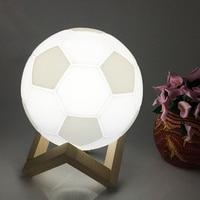 SXZM 3D Printing Soccer LED Desk Table Night Light Football Night Light Touch Lamp Kids Family