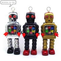 Vintage Retro High Wheel Robot Tin toy Classic Clockwork Mechanical Wind Up Motor Robot Tin Toy For Adult Kids Collectible Gift