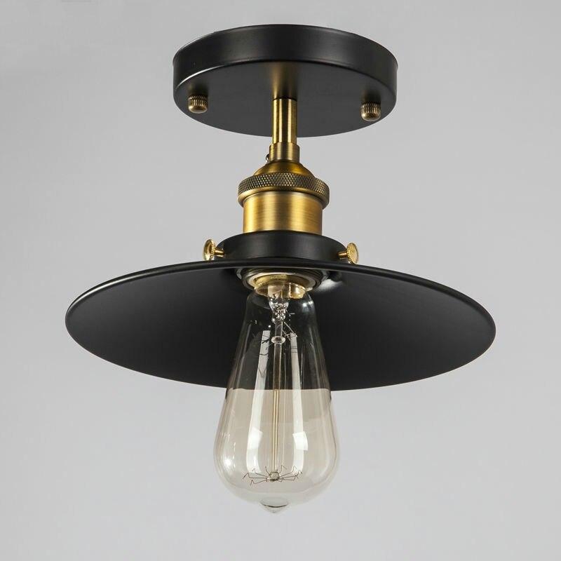Nordic Minimalist Pendant Lights American Industrial Decoration Retro Pendant Lamp Restaurant Black Lamp Shade Kitchen Fixtures