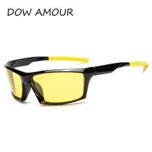 2017 Travel Mens Sunglasses Polarized Sunglasses Brand Yellow Lens Night Vision Driving Glasses Boating Goggles Reduce Glare