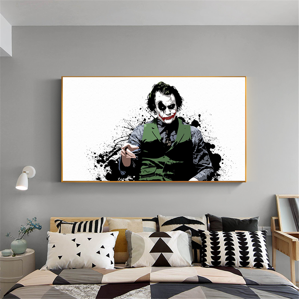 Canvas Print Wall Painting Batman Film Movie Joker Home Decorative Art Pictures For Living Room Posters Cuadros In Painting Calligraphy From Home