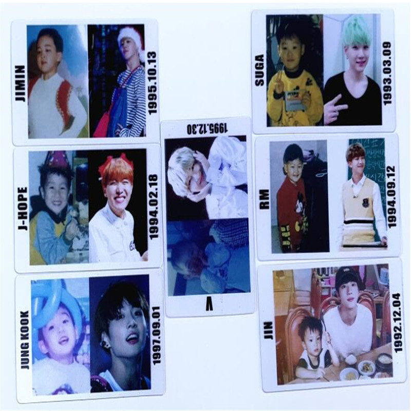 Humble Hip-pop Bts Childhood Cards Costume Props For Concerts,kpop Bts Transparent Cards Bangtan Boys Army,hippop Pop Fan Gift M003 Various Styles Novelty & Special Use