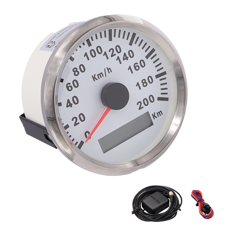 Universal Digital 85mm GPS Speedometer Speedo 200kmh LCD Speed Gauge For Car Truck Motorcycle Auto With