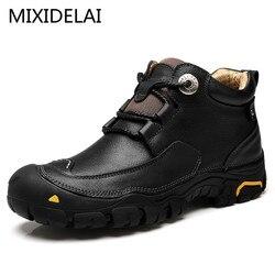 Mixidelai 2019 novos homens sapatos casuais sapatos de trabalho dos homens moda design da marca ao ar livre sapatos de lazer sapatos de couro tamanho grande
