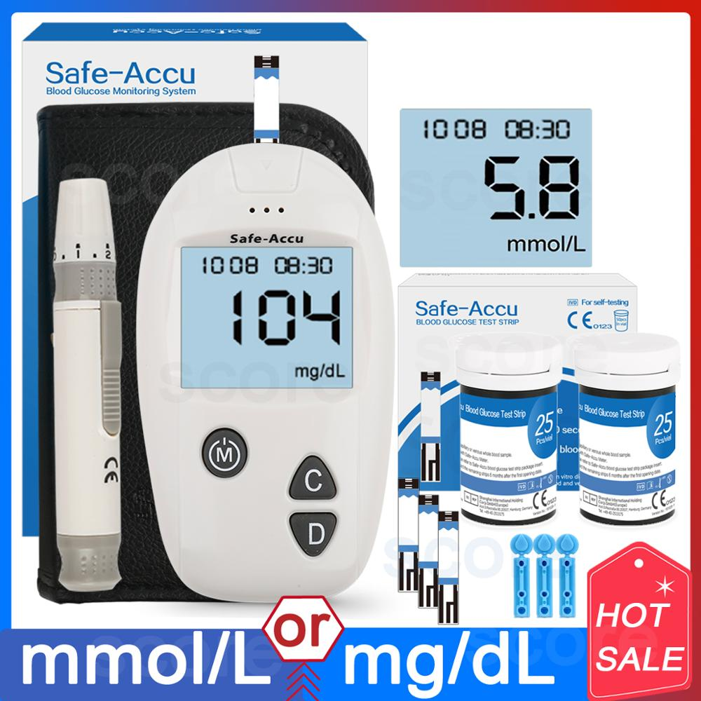 Sugar-Meter Glucometer-Kit Test-Strips Diabetes-Tester Lancets Blood Accu 50/100pcs