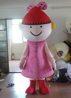 2014 new red hat girl mascot costume outfit carnival costume fancy dress costumes mascot free shipping